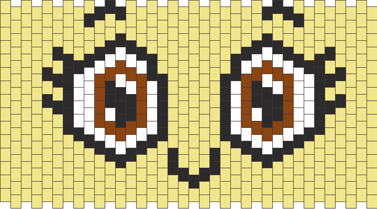 Brown Anime Eyes Kandi Pattern