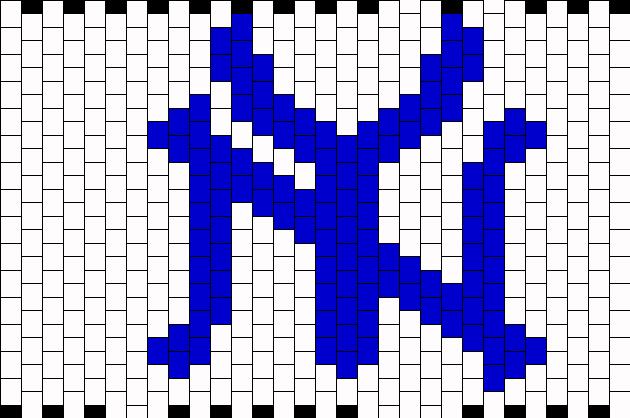 New York Yankees Symbol Kandi Pattern