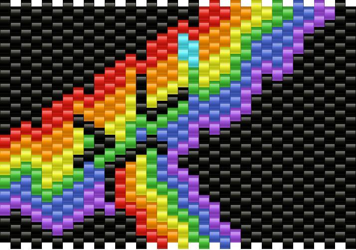 Puking Rainbow Kandi Pattern