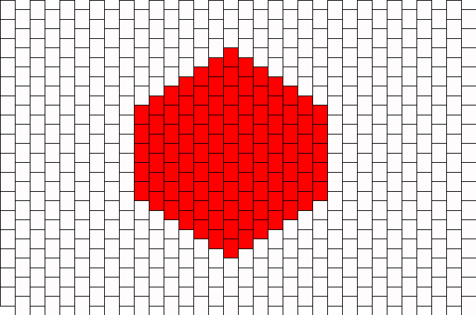 Japan Flag  Kandi Pattern