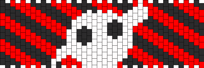 Knife Party Stripes Kandi Pattern