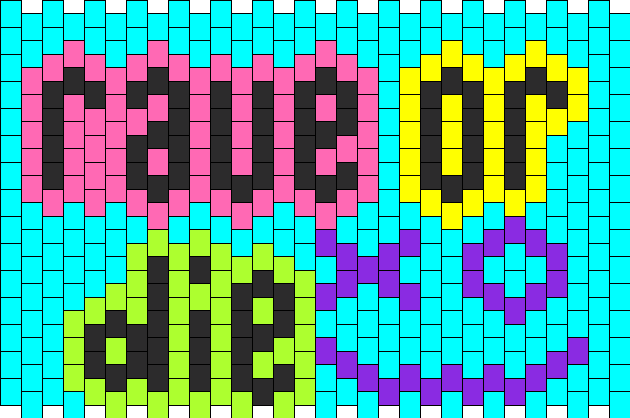 Rave Or Die Cuff Kandi Pattern