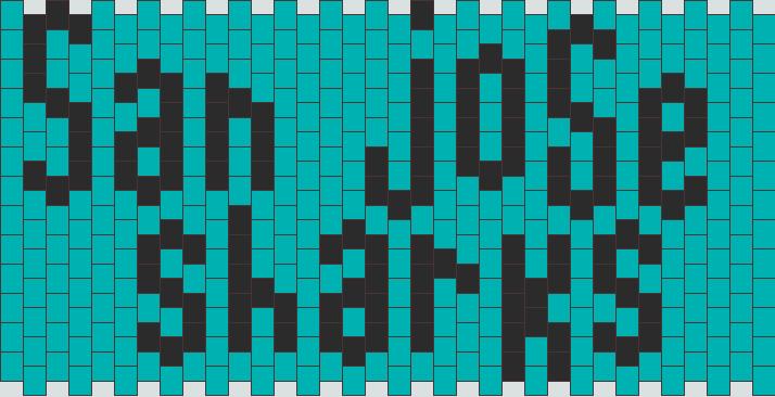 San Jose Sharks Kandi Pattern
