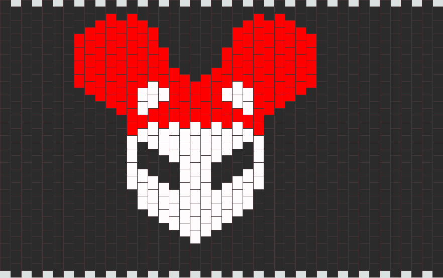 Alien Mau5 Head Kandi Pattern