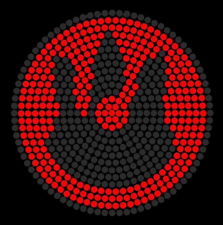 Firebender symbol perler