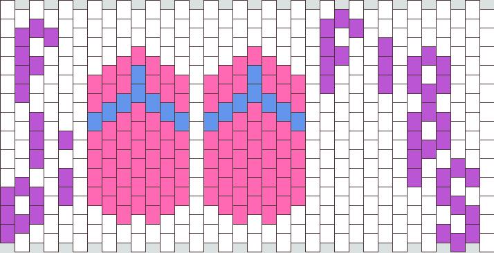 pink blue flip flops