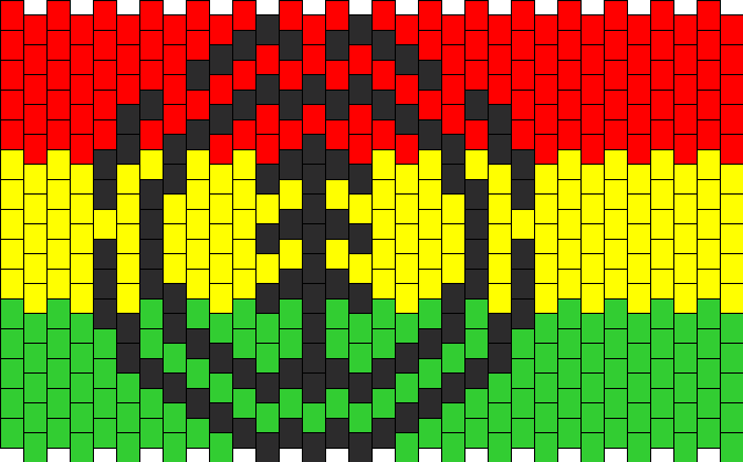 Rasta Element Logo Kandi Pattern