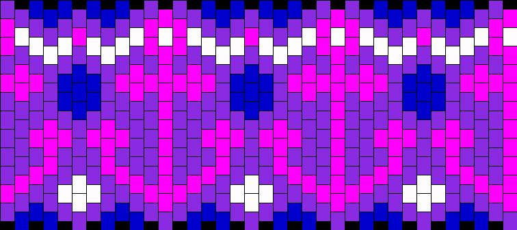 Pink Anchors Kandi Pattern