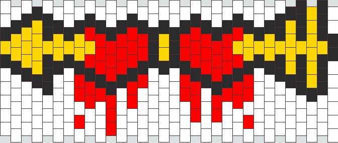 2 Hearts 1 Arrow Kandi Pattern