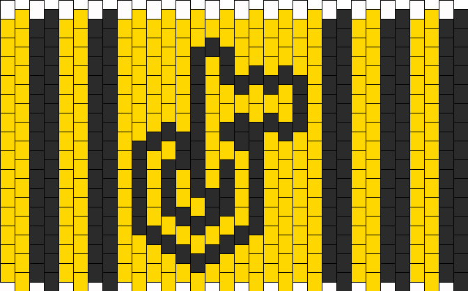 Georgia Tech Cuff Kandi Pattern