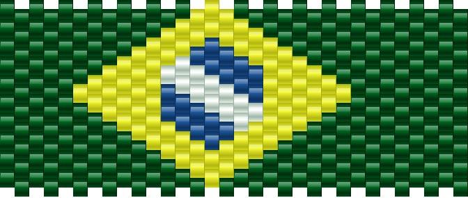 Brazilian Flag Kandi Pattern