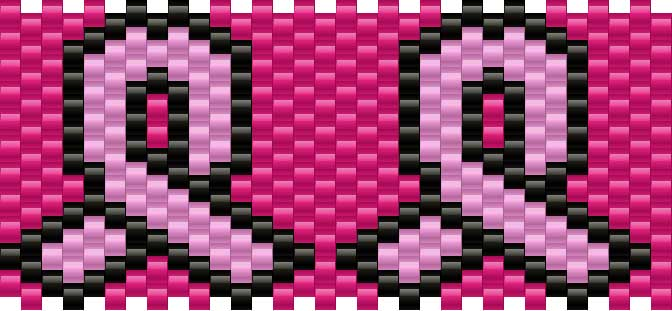 Breastcancerribbon Kandi Pattern