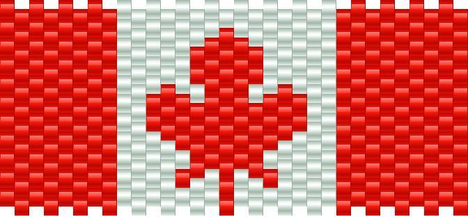Canadian Flag Kandi Pattern