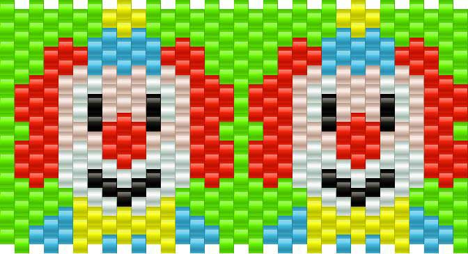 Clown Kandi Pattern