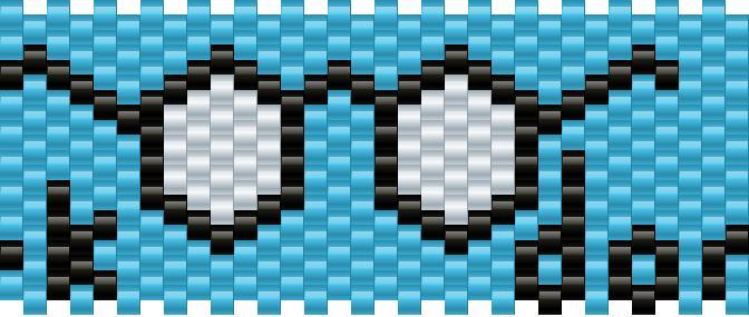 Dork Glasses Kandi Pattern
