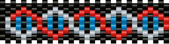Double Helix Kandi Pattern