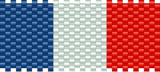 French Flag Kandi Pattern