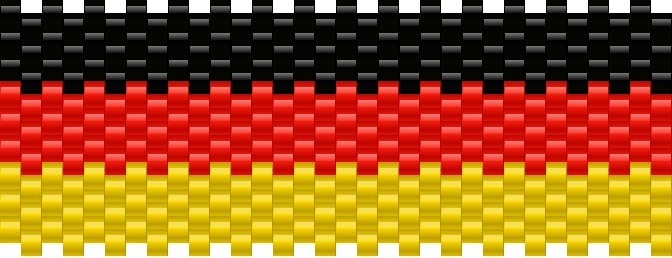 German Flag Kandi Pattern
