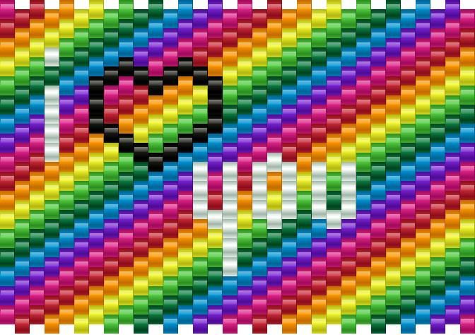 i love you rainbow big
