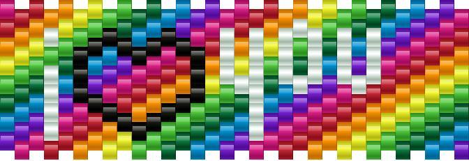 I Love You Rainbow Small Kandi Pattern