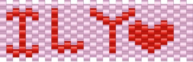ILY Kandi Pattern