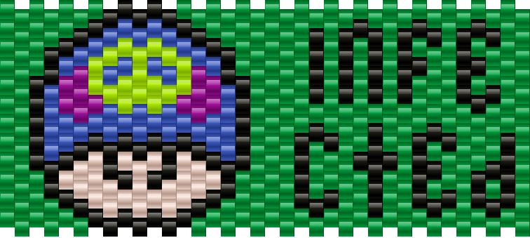Infected Mushroom Kandi Pattern