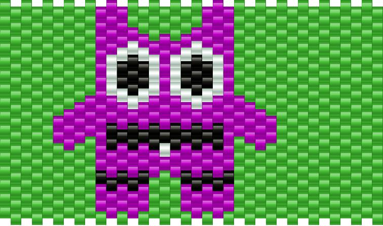Little Monster Kandi Pattern