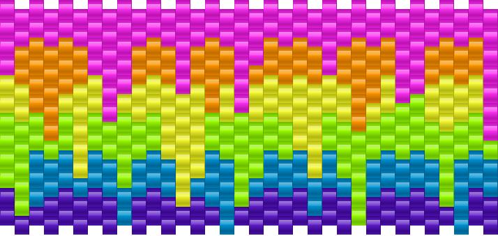 Melting Rainbow Kandi Pattern