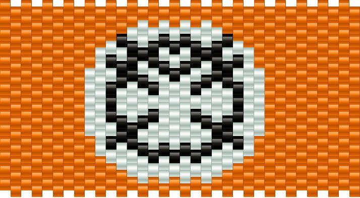 Orange Lantern Kandi Pattern