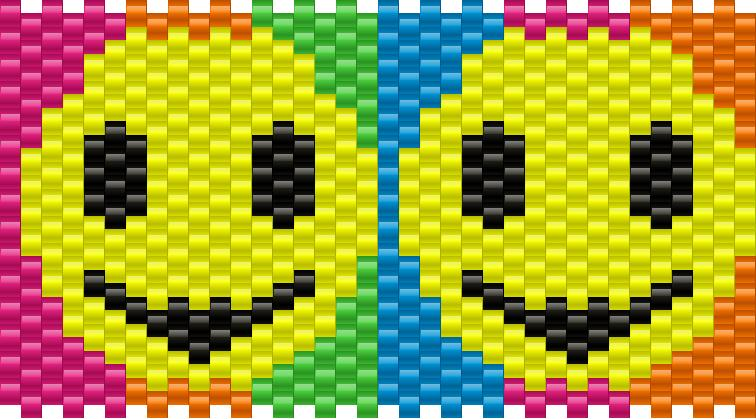 Smileynumbered Kandi Pattern
