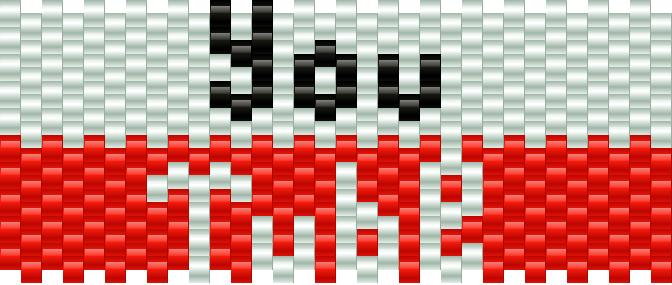 Youtube Logo Kandi Pattern