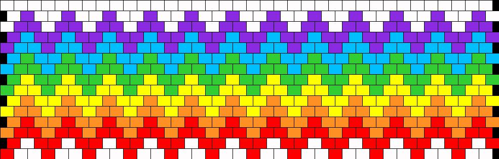 Rainbow Zig Zag Peyote