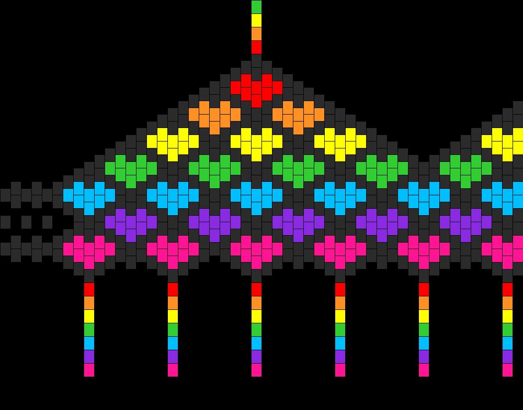 Rainbow Heart Bra  Bead Pattern