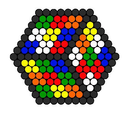 3d rubiks cube illusion perler bead pattern bead sprites