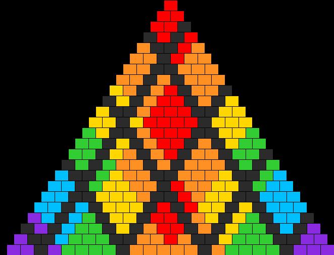 Diamond Rainbow Uneven Grid 2