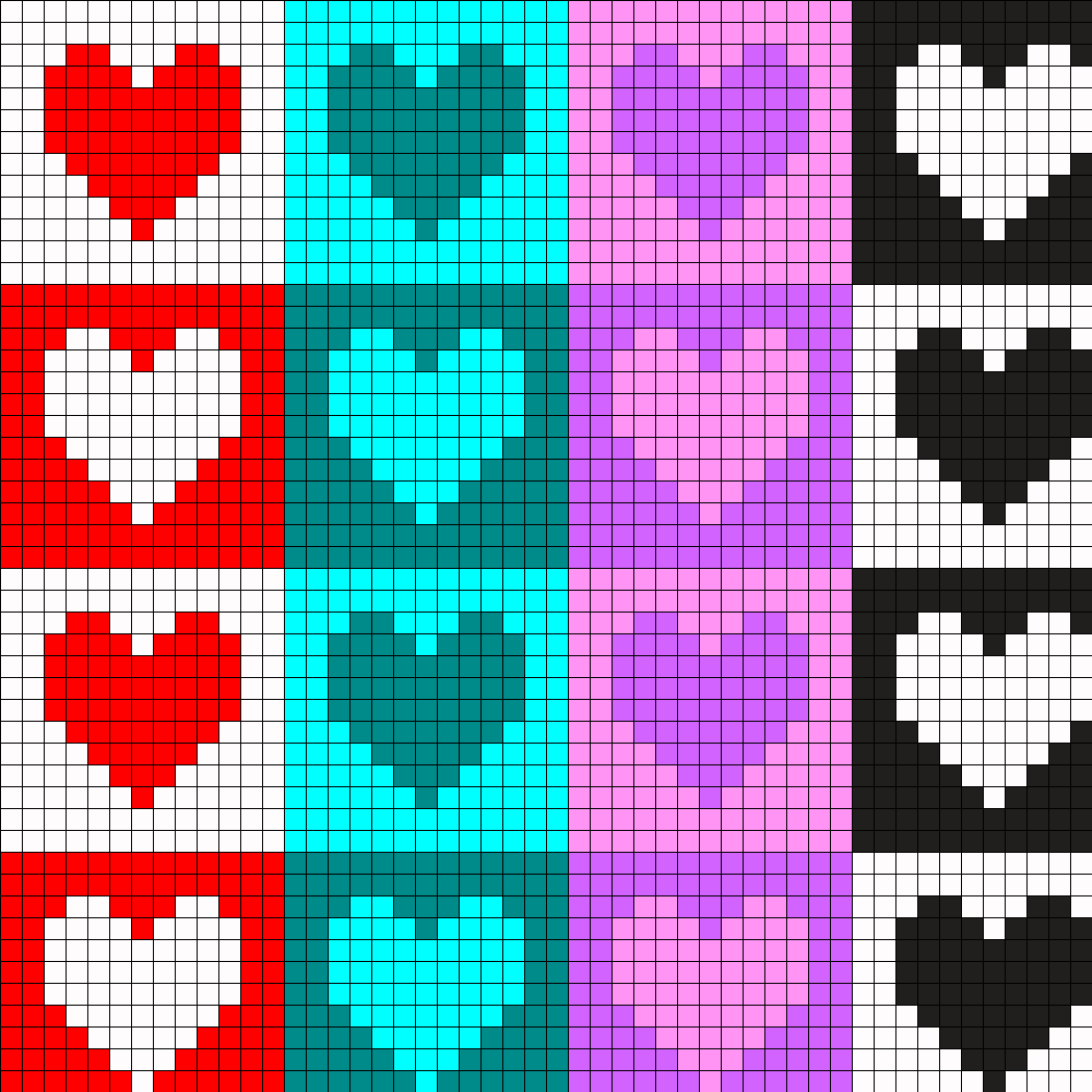 Different Colored Heart Pattern