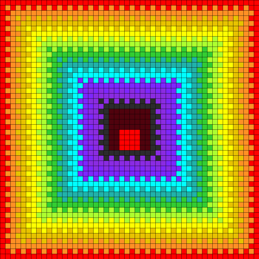 Rainbow With Red Eye Perler Bead Pattern / Bead Sprite