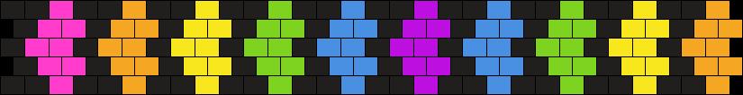Rainbow Heart Cuff Bead Pattern