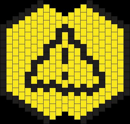 Old Caution Sign Mask Kandi Pattern