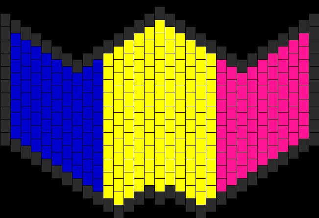 Pan Pride Mask Bead Pattern