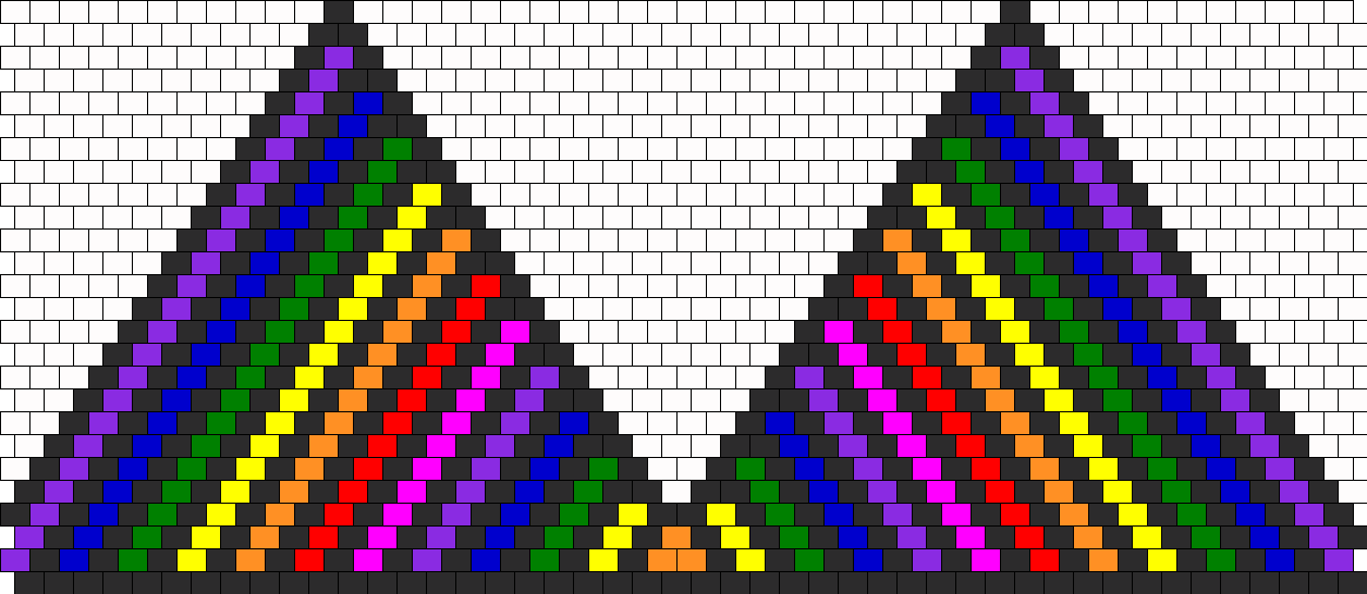 Rainbow Kandini Bead Pattern