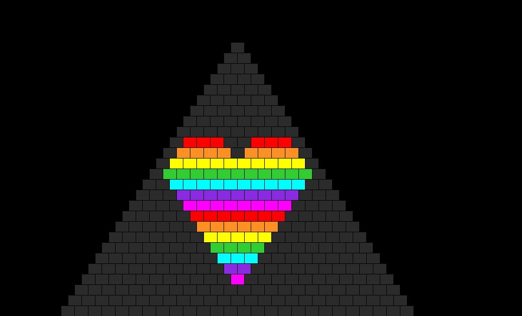 Rainbow Heart Bikini Bead Pattern