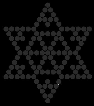 Black Snowflake Perler Bead Pattern / Bead Sprite