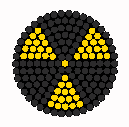 Radioactive Symbol For Goggles Gasmask Ect Perler Bead Pattern / Bead Sprite