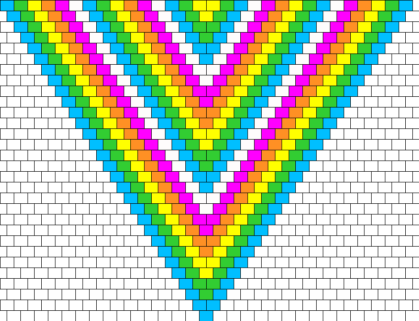 Neon Rainbow Bead Pattern