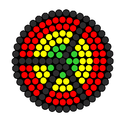 Rasta Peace Sign Perler Bead Pattern / Bead Sprite