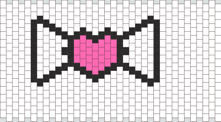 Large heart bow