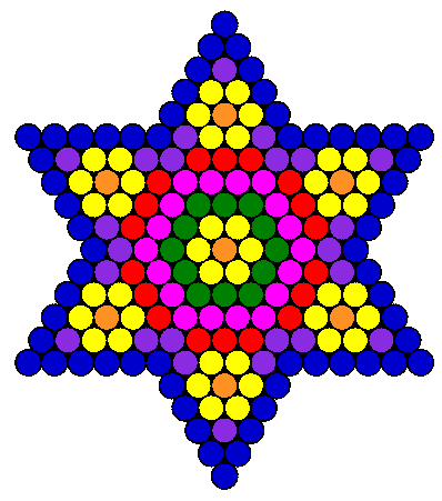 flower star fuse bead pattern