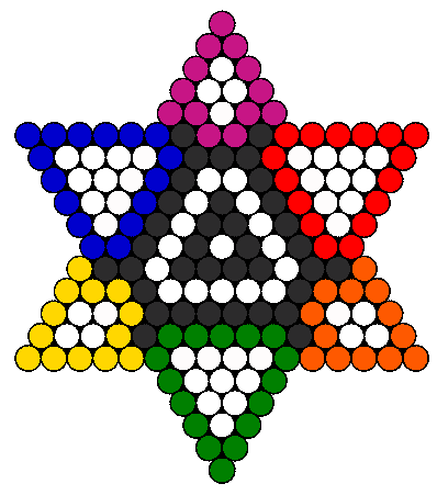 rainbow 6 pointed star