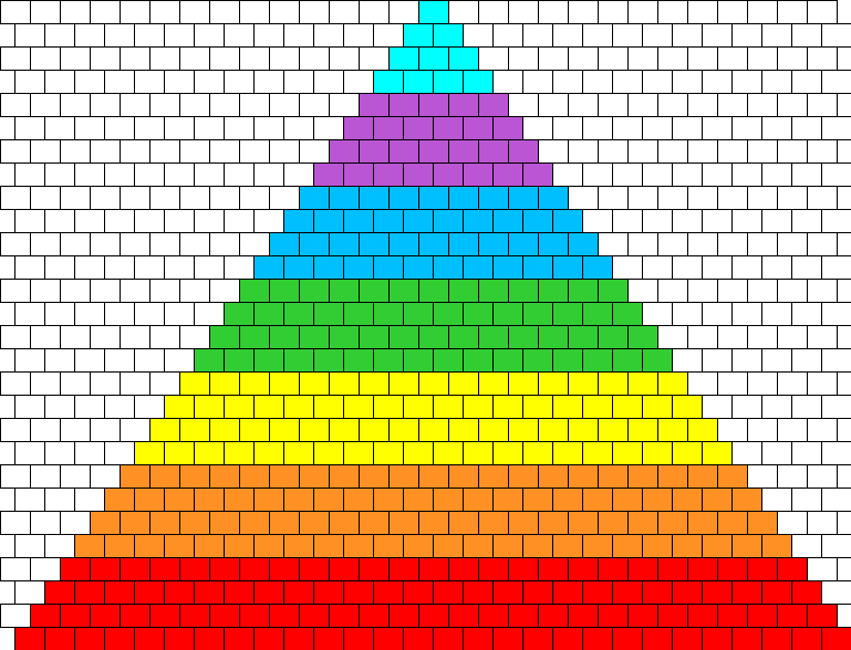Rainbow Dash Kandikini Bead Pattern